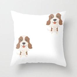 You Can't Scare Me I Have 2 English Springer Spaniels Throw Pillow