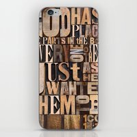 scripture iPhone & iPod Skins featuring Body of Christ Scripture Letterpress by Kristen Ramsey