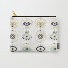 Evil Eye Collection on White Carry-All Pouch