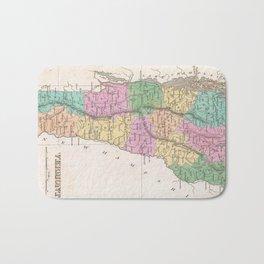 Vintage Map of Vermont (1827) Bath Mat