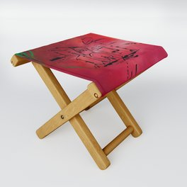Music, Drummer, Drums, Orignal Artwork By Jodi Tomer. Rock and Roll Drums Folding Stool