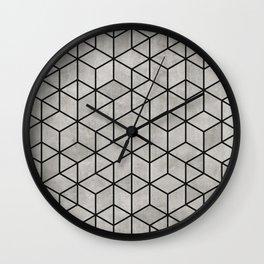 Random Concrete Cubes Wall Clock