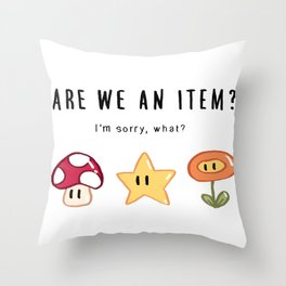 Are We an Item? Throw Pillow
