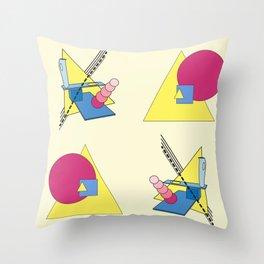 The Shape Haus: a Contemporary Bauhaus Composition Throw Pillow