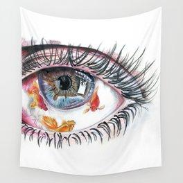 Koi Fish in Eye Wall Tapestry