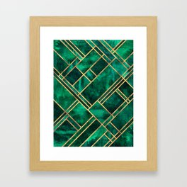 Emerald Blocks Framed Art Print