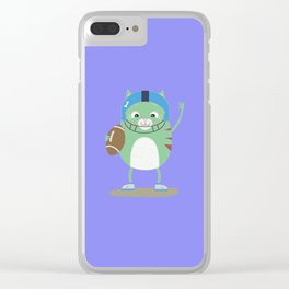 Football cute Cat T-Shirt for all Ages Dfnfz Clear iPhone Case