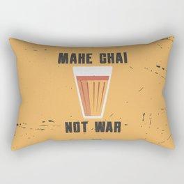 Funny Make Chai Tea Not War Quote Rectangular Pillow