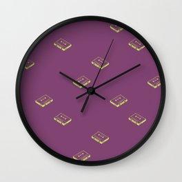 Cassette Tapes- Purple Wall Clock