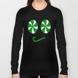 Grumpy Green Peppermint Emoji Face - Rasha Stokes Long Sleeve T-shirt