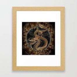 Dragon Pentagram Framed Art Print