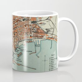 Vintage Map of Naples Italy (1911) Coffee Mug