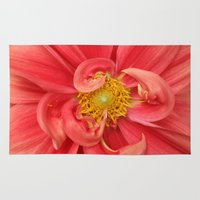 dahlia Area & Throw Rugs featuring Dahlia by KunstFabrik_StaticMovement Manu Jobst