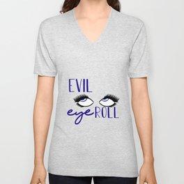 Evil Eye Roll Unisex V-Neck