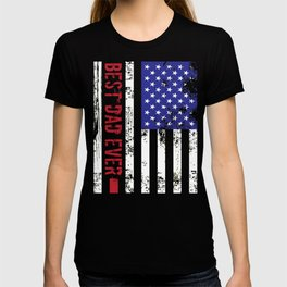 US Flag Best Dad Ever Fathers Day T-shirt