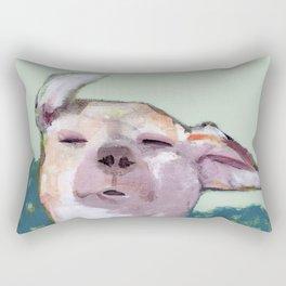Dog in Wind Rectangular Pillow