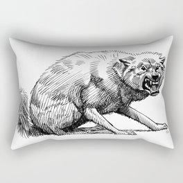 Wolf, Lille, France. Rectangular Pillow