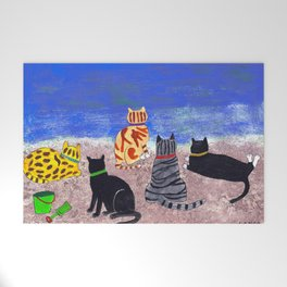 Cats on the Beach Welcome Mat