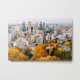 Fall in Montréal Metal Print