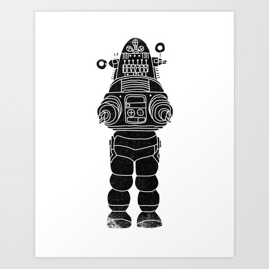 ROBBY THE ROBOT Art Print