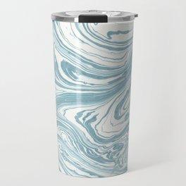 Malibu Blue Marble Retro Print Travel Mug