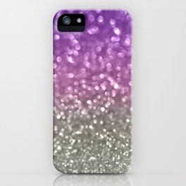 Lilac and Gray iPhone Case