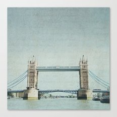 Letters From the Tower Bridge - London Canvas Print