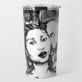 Random Collisions Of Pasts Through Paths Of Desire Travel Mug