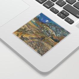 Landscape at Saint-Rémy by Vincent van Gogh Sticker