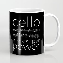 Cello power - black Coffee Mug