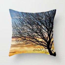 Tree Sunrise 2 Throw Pillow