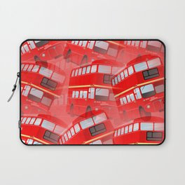 Red London Buses Laptop Sleeve