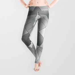 ABSTRACT LINES #1 (Grays & Beiges) Leggings