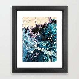 BUBBLEGUM GALAXY | Acrylic fluid art by Natalie Burnett Art Framed Art Print