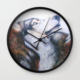 red wolves Wall Clock