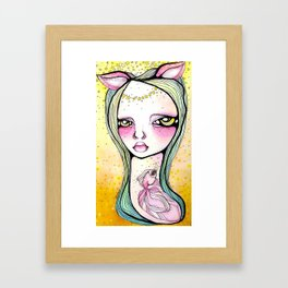 The Mischief of Olive Framed Art Print