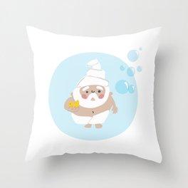 Scrub a Dub Dub Gnome Throw Pillow