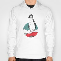 penguin Hoodies featuring Penguin by Diana Hope