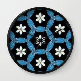 hippie flower pattern Wall Clock