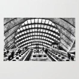 Canary Wharf Tube Escalator Rug
