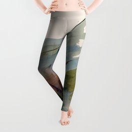 Begin again [2]: an abstract mixed media piece in a variety of colors Leggings