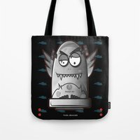 fault Tote Bags featuring Fault 45 No.1 by Face Leakage