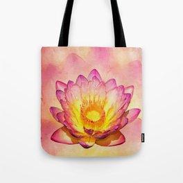 Gentle Pastel Watercolor Lotus Tote Bag