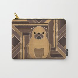 Art Deco Pug dog - Pastel Gold Carry-All Pouch