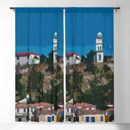 Poros Island - Greece Blackout Curtain