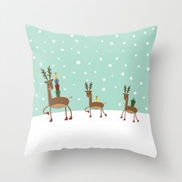 Christmas gifts from the reindeer #society6 #homedecor Throw Pillow