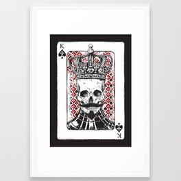 Long live the King! Framed Art Print