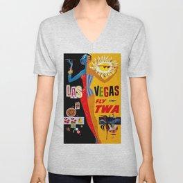 Vintage poster - Las Vegas Unisex V-Neck