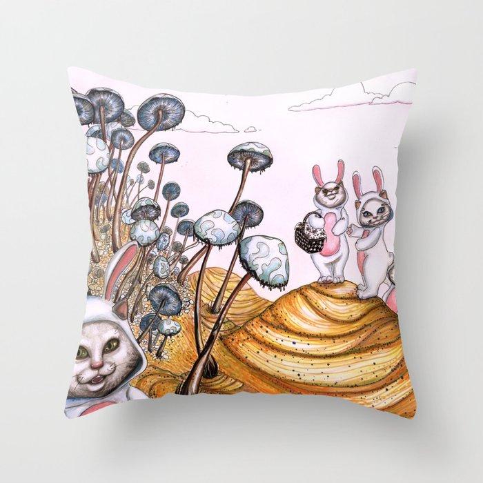 Picnic! Throw Pillow