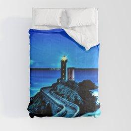 Plouzane Lighthouse, France Landscape by Jeanpaul Ferro Comforters